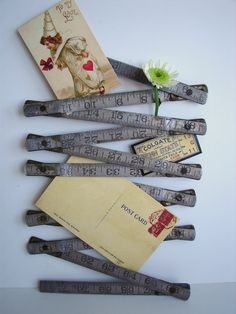 Cute use for our vintage folding ruler...
