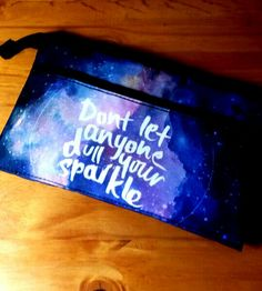 """My """"Don't let anyone dull your sparkle"""" pencil pouch from typo Monique♥♥ Cute School Supplies, Office And School Supplies, School Ideas, School Stuff, Back To School, High School, Pencil Cases, Pencil Pouch, Stationary Store"""