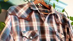 Western Shirt Mens XXL Plaid Embroidered  by BandidoStitchery