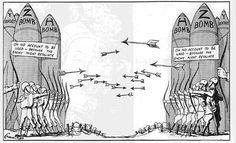 cold war arms race political cartoon 1984 - Google Search
