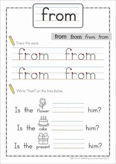 Sight Words - Handwriting Book (Grade Great for handwriting practice and reading sight words in context! Spelling And Handwriting, Handwriting Books, Handwriting Practice, English Handwriting, Sight Words, Rhyming Words, Sight Word Worksheets, Writing Worksheets, The Words