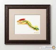 A simply beautiful dinosaur art print - featuring the colorful and fiercely alive dinosaur called Guanlong wucaii. This 12 x 9 inch fine art print will be delightfully fierce for years to come. Dinosaur Kids Room, Dinosaur Gifts, Dinosaur Art, Visionary Art, Limited Edition Prints, Thoughtful Gifts, Fine Art Prints, Dinosaurs, Illustration