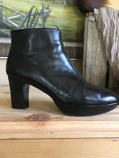 Robert Clergerie France Short Ankle Boots Gloved Leather Heel Size 7 Platform    eBay