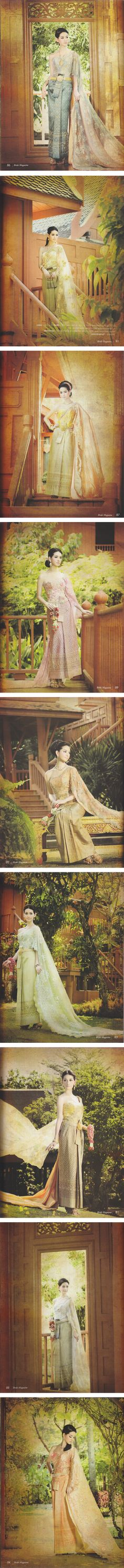 A traditional Thai dress. A dress and look that portrays elegance and class. For more on the traditional style of Thailand on theculturetrip.com