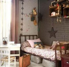 Living Room Vintage Decor grey and pink girls bedroom.Living Room Vintage Decor grey and pink girls bedroom Teenage Girl Bedrooms, Girls Bedroom, Bedroom Decor, Bedroom Ideas, Childrens Bedroom, Bedroom Wall, Bedroom Styles, Wall Decor, Bedroom Colors