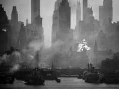 Andreas Feiniger - New York - Street viewed from Weehawken (Midtown Manhattan seen from New Jersey Vintage New York, Vintage Black, Vintage Style, Life Magazine, Vintage Photography, Art Photography, Straight Photography, Building Photography, Classic Photography
