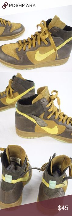 Nike Dunk High NL Golden Hops Suede Leather Size 7 Unisex Nike Dunk High NL 311296-731 Golden Hops Suede Leather Size 7 US Nike Shoes Sneakers