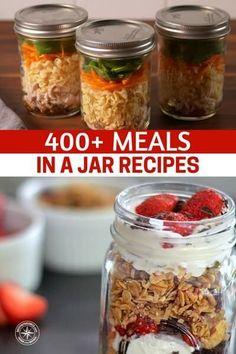 Meals In A Jar Recipes - make ahead meals - Mason Jar Mixes, Mason Jar Lunch, Soup In A Jar, Pots, Food Jar, Mason Jar Food, Mason Jar Salads, Jar Food Gifts, Salad In A Jar