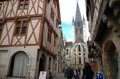 Côte-d'Or Tourisme © F. BONNARD Rue Pietonne, Bonnard, Ville France, Le Palais, Street View, Europe, Travel, Internal Courtyard, Tourism