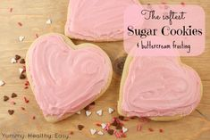 The Softest Sugar Cookies Ever!  Pinning for the frosting recipe.