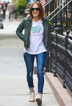 Sarah Jessica Parker uses her street style prowess to remind us to give back to others.