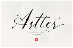 Astter by vuuuds on @creativemarket