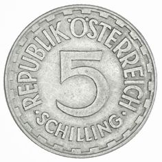 5 Schilling 1957 Zweite Republik Coins, Personalized Items, Birthday, Coining