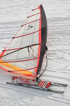 The first attempt at windsurfing in the winter was with my Comet 330 windsurf board on the snow up at the lake. Luge, Snowboarding, Skiing, Char A Voile, Kids Play Equipment, Volleyball, Softball, Snow Fun, Sup Surf