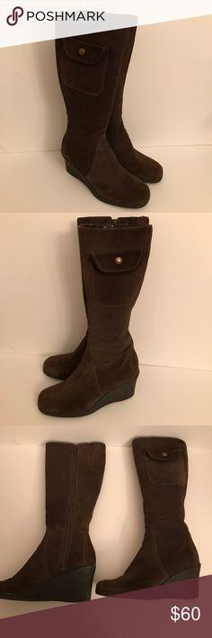 Aerosols Wedge Boots Size 7B AEROSOLES Shoes Heeled Boots