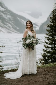 This snowy elopement in Lake Louise was beautiful and romantic. The couple exchanged their vows then did wedding photos at Lake Louise and Moraine Lake. Wedding Songs, Wedding Couples, Wedding Photos, Pink Wedding Theme, Blush Bouquet, Mountain Weddings, Moraine Lake, Banff, Dress Ideas