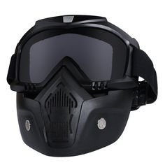 209daab4cc Motorcycle Helmet Riding Goggles Glasses With Removable Face MaskDetachable  Fogproof Warm Goggles Mouth Filter Adjustable Nonslip