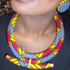 Parure afiavi n°2: bijoux en wax ( pagne africain )