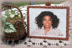 My little bakery :): Embroidery Portrait cookie ...Oprah Winfrey :)