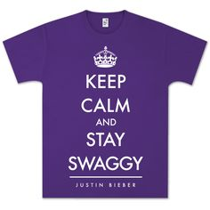 Justin Bieber Keep Calm and Swaggy T-Shirt https://justinbieber.bravadousa.spottrot.com/?product_uid=BGCTJU190