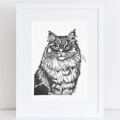 Cat print made with hand carved rubber stamp Handmade Art, Hand Carved, My Arts, Carving, Lino Cuts, Art Prints, Cats, Instagram Posts, Artwork