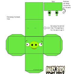 Angry Bird 3D Shapes Foldables Printables