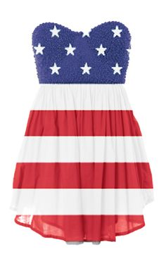 This is way too cute!  Great dress to wear in our annual 4th of July bike ride along the shore.