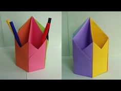 Hexagonal Pen | Pencil Holder - DIY Tutorial by Paper Folds ❤️ - YouTube