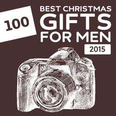 100 Best Christmas Gifts for Men of 2015- this is a great list with unique gift ideas for men.