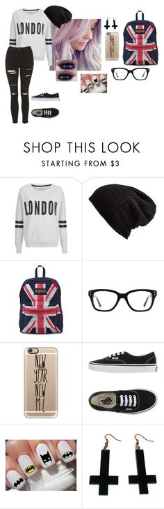 """""""LONDON STYLE"""" by luhpayne-948 on Polyvore featuring ONLY, Free People, JanSport, Converse, Casetify, Vans, Chicnova Fashion and Topshop"""