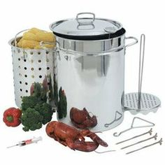 Barbour International, BC 32 qt SS Stockpot (Catalog Category: Kitchen & Housewares / Cookware & Bakeware) by Barbour International. $152.95. Barbour International, BC 32 qt SS Stockpot (Catalog Category: Kitchen & Housewares / Cookware & Bakeware) Bayou Classic 32 Qt Stainless Steel Turkey Fryer. Perforated Steam/Boil Basket & Vented Lid Perforated Poultry Rack/Lift hook 12 Thermometer 3 pc Detachable Skewer Set 1 oz Trial Seasoning Injector