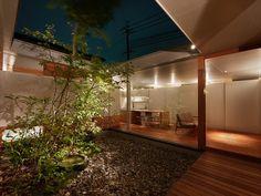 関屋の家 中庭のある平屋|内観写真