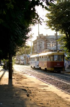 The tram(tramvai in Russian) in Krasnodar Russia. Ukraine, Russia Pictures, Places Ive Been, Places To Visit, Largest Countries, Beautiful Buildings, Eastern Europe, Public Transport, Cool Pictures