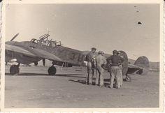 """Foto Luftwaffe Flugzeug Me 110 C/D/E """"3U+.T"""" der 9./ZG 26 Derna oder Fuka 1942   eBay"""