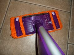 Swiffer Wet Jet Mop Cover So my swiffer is well loved. So loved in fact, it's missing it's handle. And the battery compartment is b...