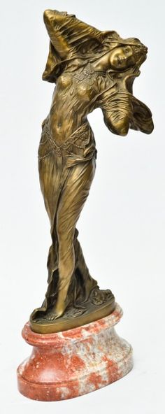 "CHIPARUS, DEMETRE - ""Favorite"", lindíssima escultura art deco em bronze francês, Circa 1928,"