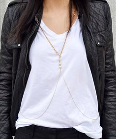 I really like this- the body chain to dress up a t shirt & jeans or trowsers