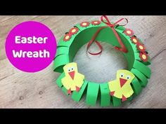 Easter paper wreath easy craft for kids - YouTube