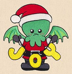 "This free embroidery design from Urban Threads is called ""Cthulhu's Christmas""."