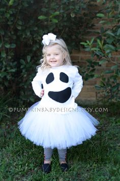 Ghost Tutu Costume by pumpkinbabydesigns on Etsy, $30.00 Little Diamond Models