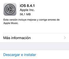 Apple lanza iOS 8.4.1 y estas son todas sus novedades