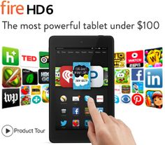 """#Electronics: #Valentine'sDay Savings Fire HD 6 Tablet 6"""" HD Display, Wi-Fi, Front and Rear Cameras, 8 GB or 16 GB Shop Amazon - Valentine's Day Savings Start Date: Feb 1, 2015 End Date: Feb 14, 2015"""