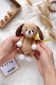 Crochet Animal Patterns, Stuffed Animal Patterns, Crochet Patterns Amigurumi, Amigurumi Doll, Doll Patterns Free, Crochet Baby Toys, Crochet Bear, Cute Crochet, Crochet Dolls
