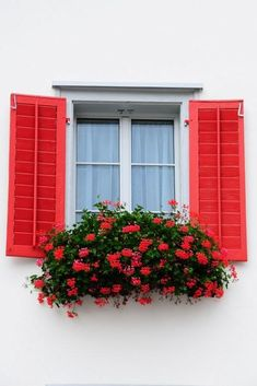 60 Trendy exterior paint colors for house yellow curb appeal window boxes Exterior Paint Colors For House, Paint Colors For Home, Exterior Colors, Paint Colours, Pintura Exterior, Window Shutters Exterior, Cottage Shutters, Red Shutters, Shutter Colors