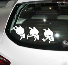 Drop shipping Car Stickers and Decals Funny Rabbit Truze writing sticker for Car Rear window/full body,car accessories $5.20