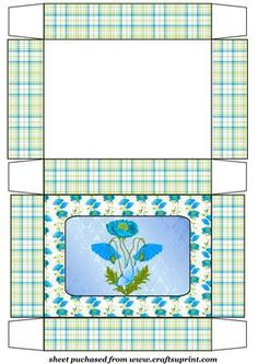 Blue poppy gift box on Craftsuprint designed by Stephen Poore -