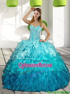 2015 Sweetheart Multi Color Dress for 15 Birthday with Ruffles and Beading
