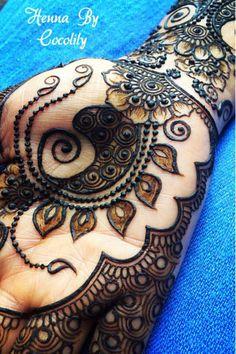 Mehndi Maharani 2014 Finalist: Henna By Cocolily Henna Designs Easy, Beautiful Henna Designs, Beautiful Mehndi, New Mehndi Designs, Henna Tattoo Designs, Mehandi Designs, Tattoo Ideas, Mehendi, Mehandi Henna
