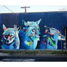 Shadowmonsterbear, redone/improved mural in south central Los Angeles