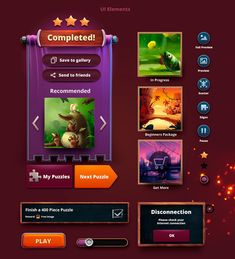 Creating interface and graphics for jigsaw puzzles. Game Ui, Game Design, Jigsaw Puzzles, Character, Match 3, Behance, Window, Illustration, Casual